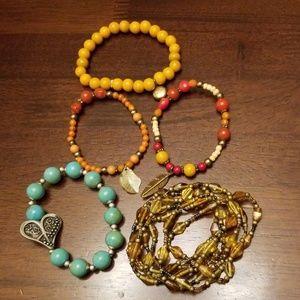 Jewelry - Bundle Glass or Stone Bracelets